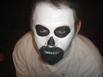 Skeleton Face Paint – A simple, quick and easy way to ...